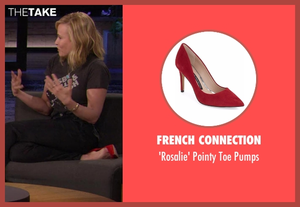 French Connection red pumps from Chelsea seen with Chelsea Handler