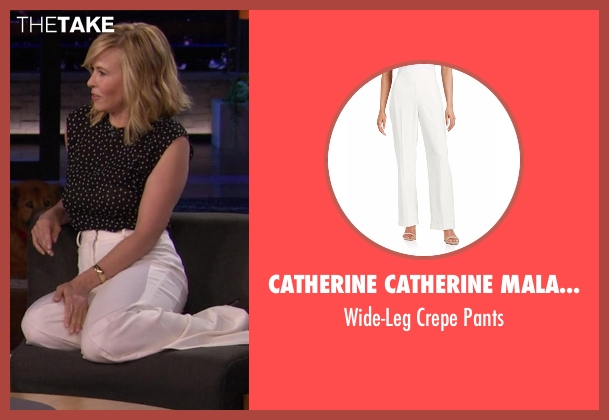 Catherine Catherine Malandrino white pants from Chelsea seen with Chelsea Handler