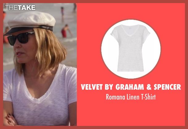 Velvet by Graham & Spencer white t-shirt from Chelsea seen with Chelsea Handler