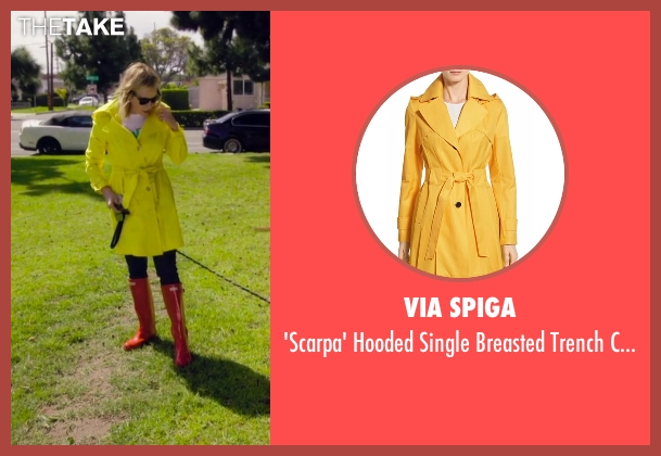 Via Spiga yellow coat from Chelsea seen with Chelsea Handler