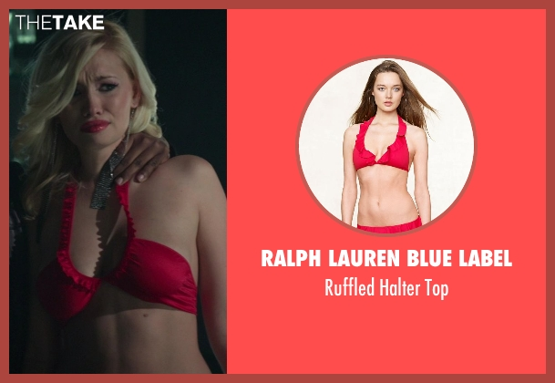 Ralph Lauren Blue Label red top from Ride Along seen with Chelsea Small (Hostage #2)