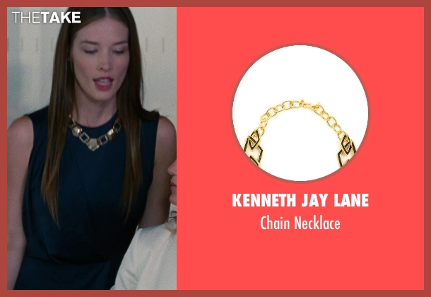 Kenneth Jay Lane black necklace from The Other Woman seen with Chelsea Turnbo (Receptionist)