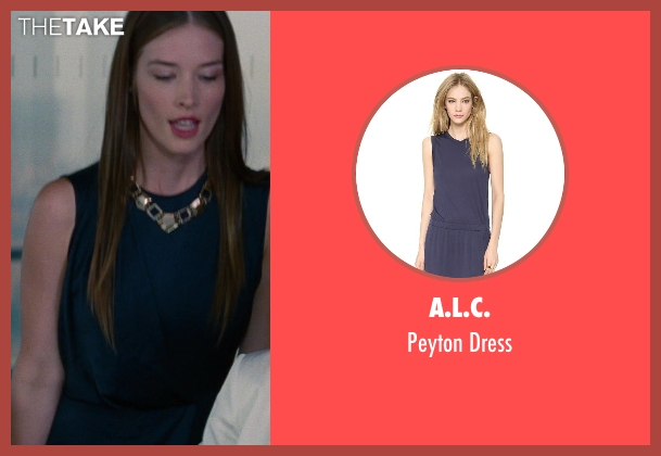 A.L.C. blue dress from The Other Woman seen with Chelsea Turnbo (Receptionist)