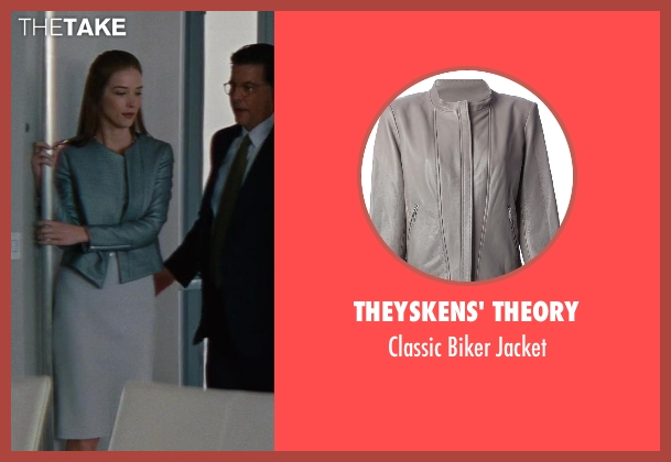 Theyskens' Theory gray jacket from The Other Woman seen with Chelsea Turnbo (Receptionist)