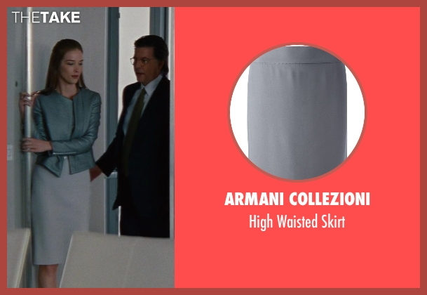 Armani Collezioni gray skirt from The Other Woman seen with Chelsea Turnbo (Receptionist)
