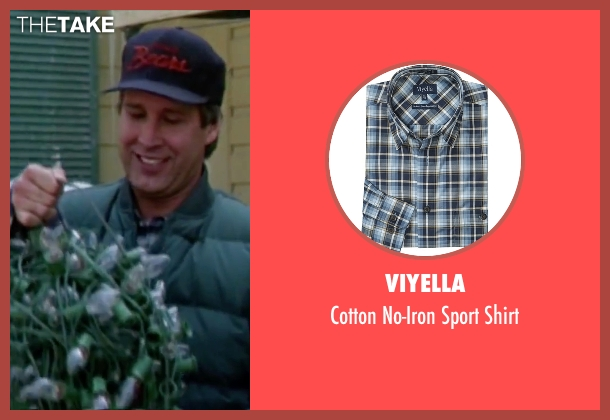 Viyella blue shirt from Christmas Vacation seen with Chevy Chase (Clark)