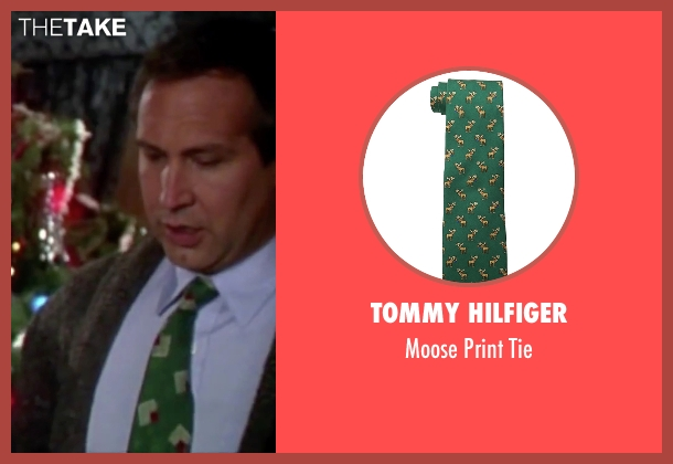 Tommy Hilfiger green tie from Christmas Vacation seen with Chevy Chase (Clark)