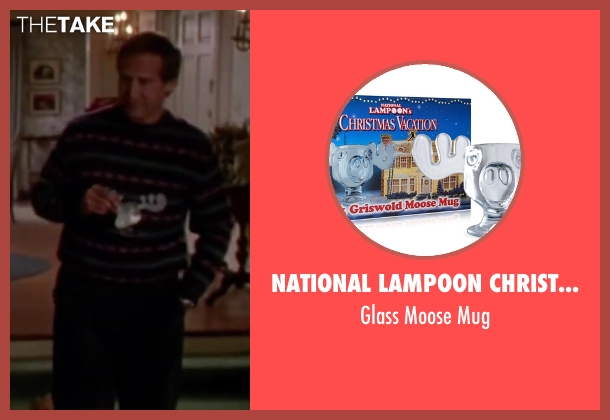 National Lampoon Christmas Vacation mug from Christmas Vacation seen with Chevy Chase (Clark)