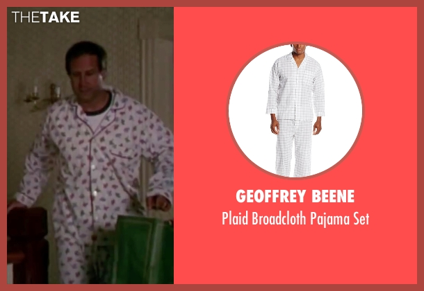 Geoffrey Beene white set from Christmas Vacation seen with Chevy Chase (Clark) Plaid Broadcloth Pajama ...