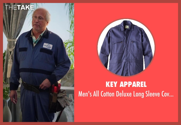 Key Apparel coverall from Hot Tub Time Machine 2 seen with Chevy Chase (Repairman)