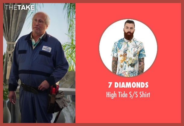 7 Diamonds shirt from Hot Tub Time Machine 2 seen with Chevy Chase (Repairman)