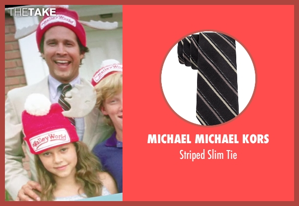 Michael Michael Kors black tie from Vacation seen with Chevy Chase (Clark Griswold)