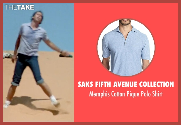 Saks Fifth Avenue Collection blue shirt from Vacation seen with Chevy Chase (Clark Griswold)