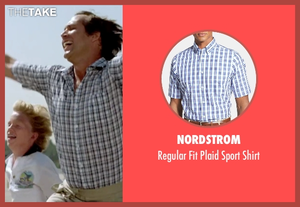Nordstrom blue shirt from Vacation seen with Chevy Chase (Clark Griswold)