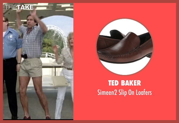 Ted Baker brown loafers from Vacation seen with Chevy Chase (Clark Griswold)