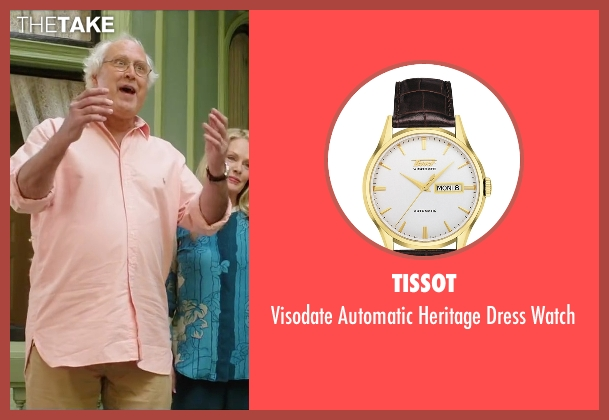 Tissot brown watch from Vacation seen with Chevy Chase (Clark Griswold)
