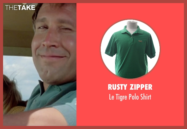 Rusty Zipper green shirt from Vacation seen with Chevy Chase (Clark Griswold)