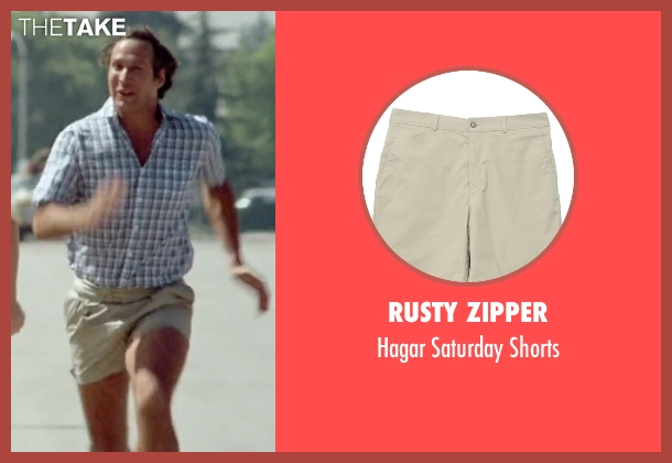 Rusty Zipper shorts from Vacation seen with Chevy Chase (Clark Griswold)
