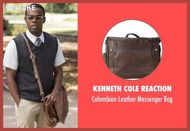 Kenneth Cole Reaction  brown bag from The Good Place seen with Chidi Anagonye (William Jackson Harper)