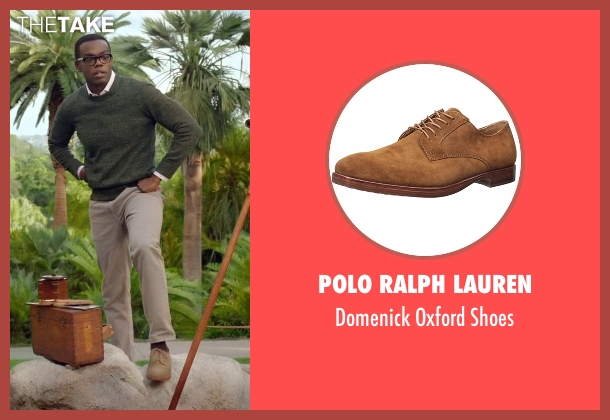 Polo Ralph Lauren brown shoes from The Good Place seen with Chidi Anagonye (William Jackson Harper)