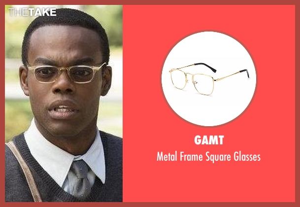 GAMT gold glasses from The Good Place seen with Chidi Anagonye (William Jackson Harper)