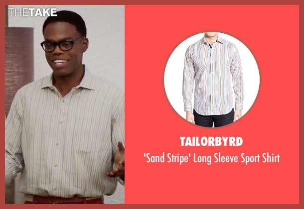 Tailorbyrd white shirt from The Good Place seen with Chidi Anagonye (William Jackson Harper)