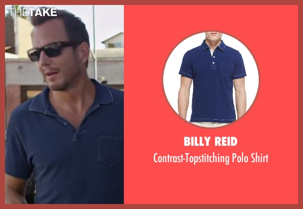 Billy Reid  blue shirt from Flaked seen with Chip (Will Arnett)
