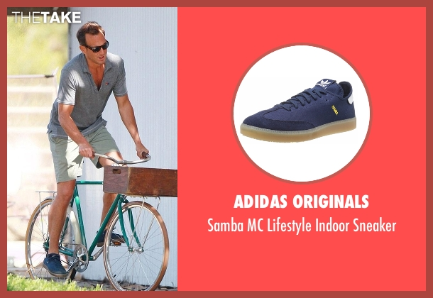 Adidas Originals blue sneaker from Flaked seen with Chip (Will Arnett)