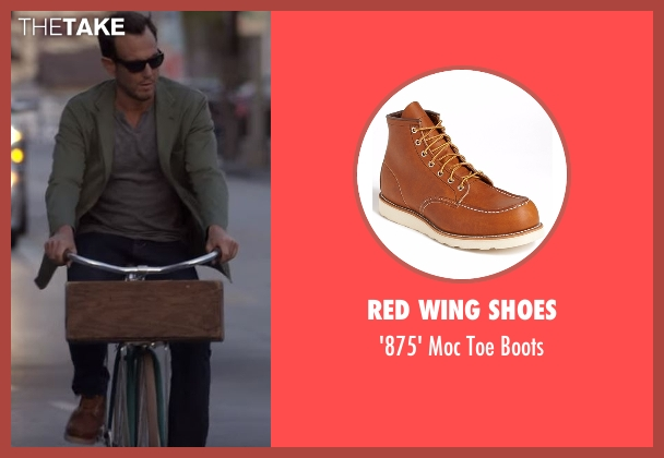 Red Wing Shoes brown boots from Flaked seen with Chip (Will Arnett)
