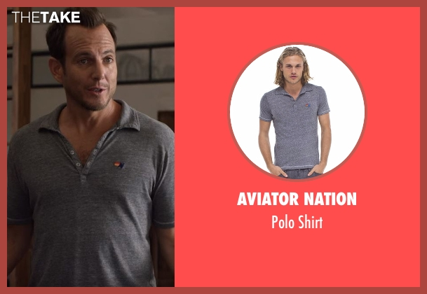 Aviator Nation gray shirt from Flaked seen with Chip (Will Arnett)