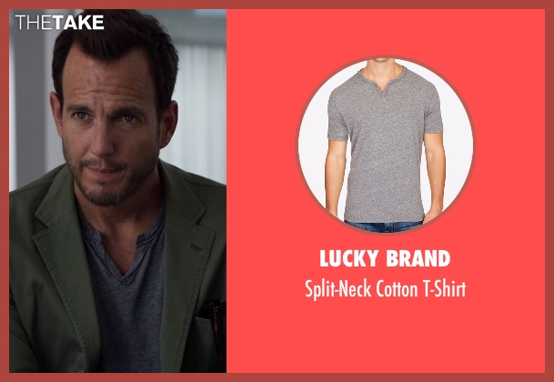 Lucky Brand gray t-shirt from Flaked seen with Chip (Will Arnett)