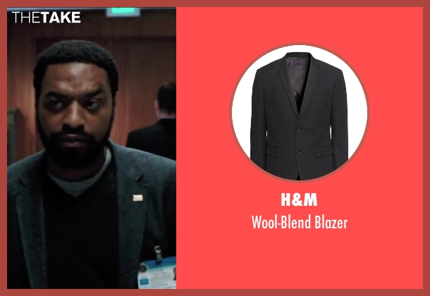 H&M black blazer from Secret in Their Eyes seen with Chiwetel Ejiofor (Ray)