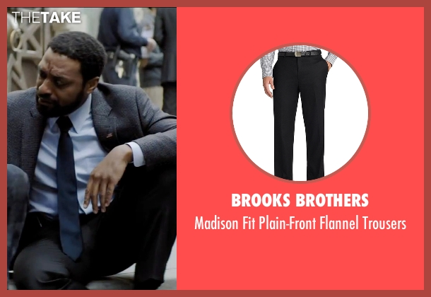 Brooks Brothers black trousers from Secret in Their Eyes seen with Chiwetel Ejiofor (Ray)
