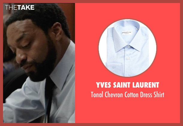 Yves Saint Laurent blue shirt from Secret in Their Eyes seen with Chiwetel Ejiofor (Ray)