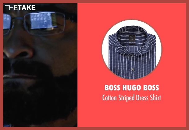 Boss Hugo Boss blue shirt from Secret in Their Eyes seen with Chiwetel Ejiofor (Ray)