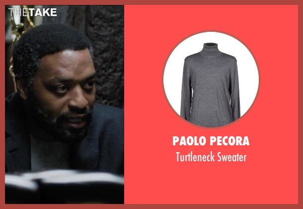 Paolo Pecora gray sweater from Secret in Their Eyes seen with Chiwetel Ejiofor (Ray)