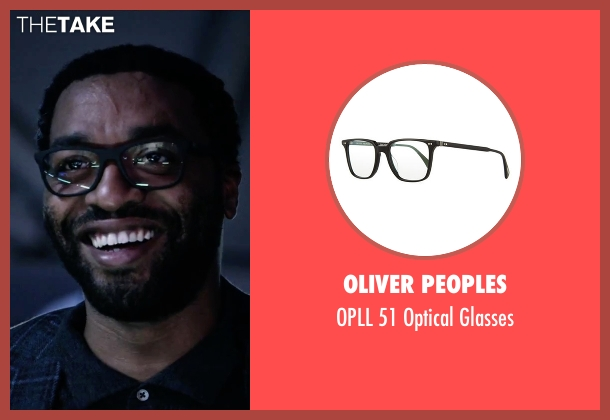 Oliver Peoples black glasses from The Martian seen with Chiwetel Ejiofor (Venkat Kapoor)