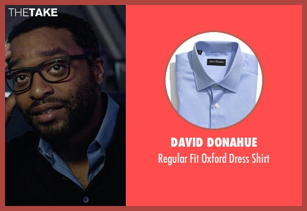 David Donahue blue shirt from The Martian seen with Chiwetel Ejiofor (Venkat Kapoor)