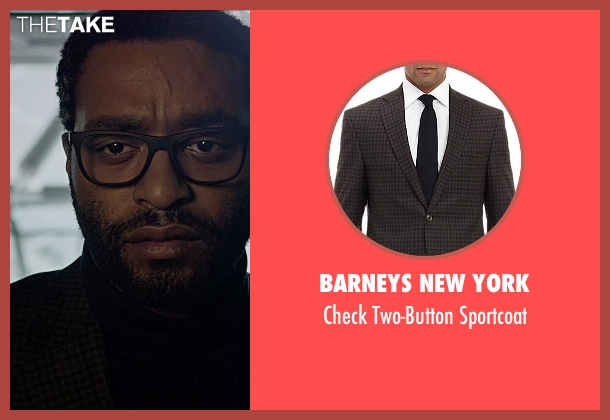 Barneys New York brown sportcoat from The Martian seen with Chiwetel Ejiofor (Venkat Kapoor)