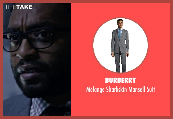Burberry gray suit from The Martian seen with Chiwetel Ejiofor (Venkat Kapoor)