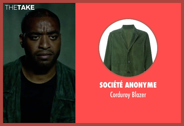 Société Anonyme green blazer from Triple 9 seen with Chiwetel Ejiofor (Terrell Tompkins)