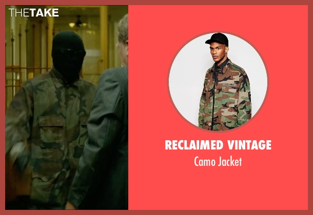 Reclaimed Vintage green jacket from Triple 9 seen with Chiwetel Ejiofor (Terrell Tompkins)