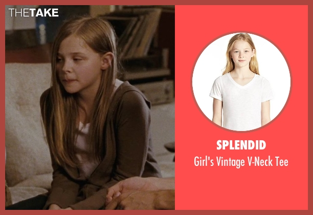 Splendid white tee from (500) Days of Summer seen with Chloë Grace Moretz (Rachel)