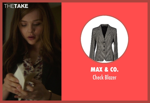 Max & Co. black blazer from If I Stay seen with Chloë Grace Moretz (Mia Hall)