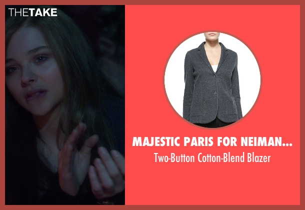 Majestic Paris for Neiman Marcus black blazer from If I Stay seen with Chloë Grace Moretz (Mia Hall)