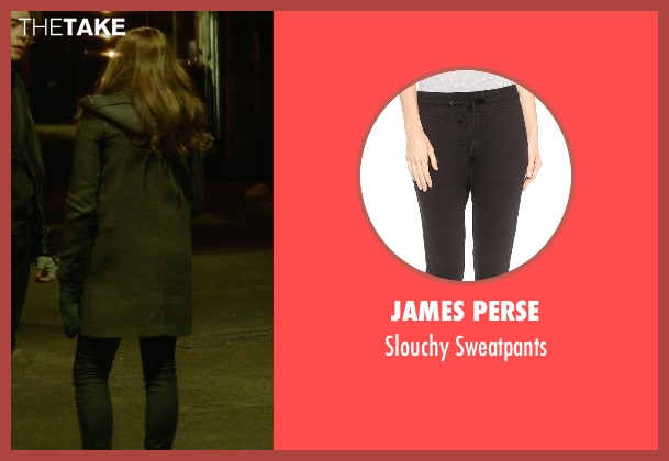 James Perse black sweatpants from If I Stay seen with Chloë Grace Moretz (Mia Hall)