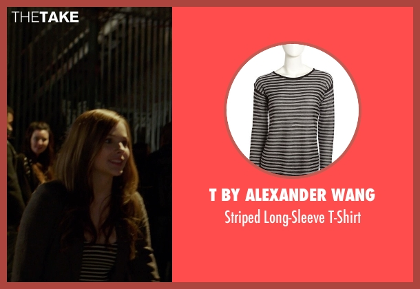 T by Alexander Wang black t-shirt from If I Stay seen with Chloë Grace Moretz (Mia Hall)