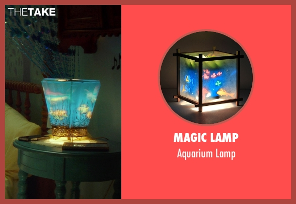 Magic Lamp blue lamp from If I Stay seen with Chloë Grace Moretz (Mia Hall)