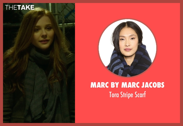 Marc by Marc Jacobs blue scarf from If I Stay seen with Chloë Grace Moretz (Mia Hall)
