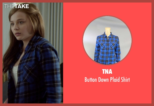 TNA blue shirt from If I Stay seen with Chloë Grace Moretz (Mia Hall)